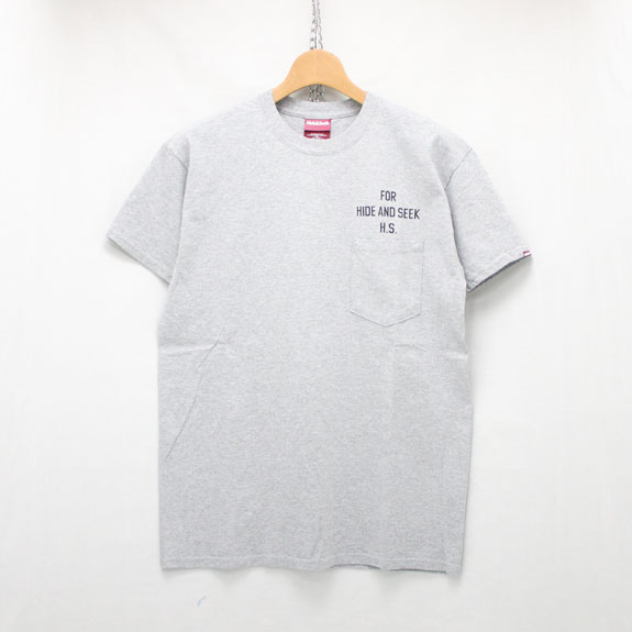 HIDE&SEEK PERFECT DAY Pocket Tee:H-GRAY