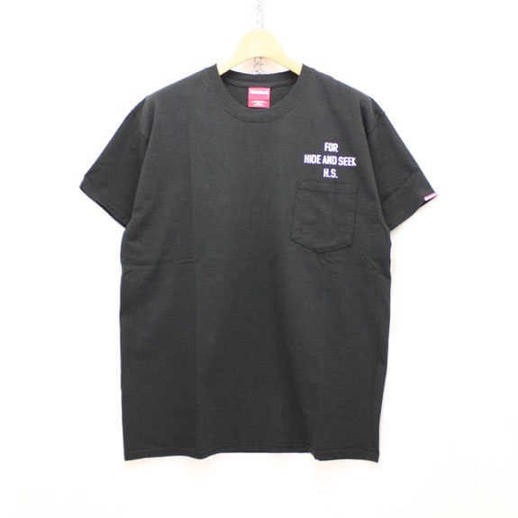 HIDE&SEEK PERFECT DAY Pocket Tee:BLACK