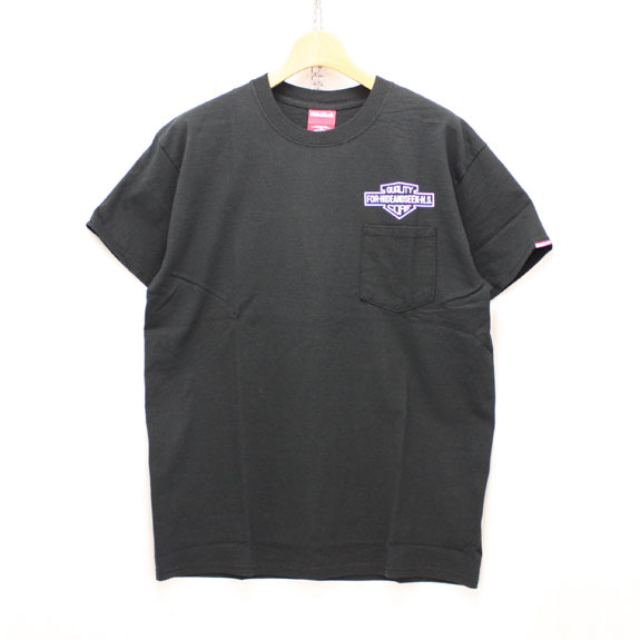 HIDE&SEEK Q.C. Emblem Pocket Tee:BLACK×WHITE