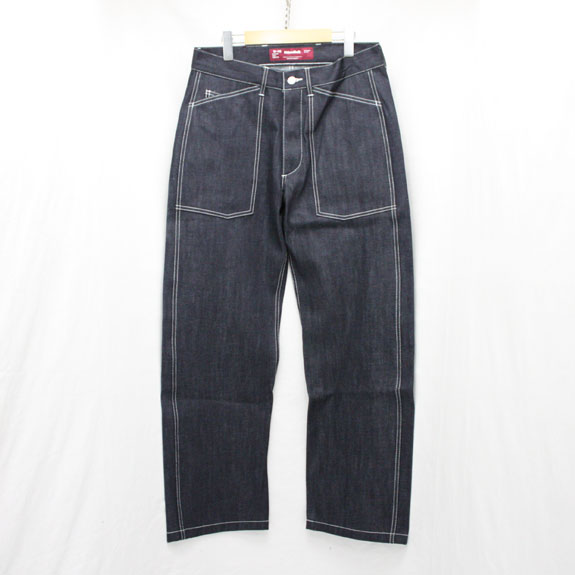 HIDE&SEEK Fatigue Denim Pants (16ss):INDIGO