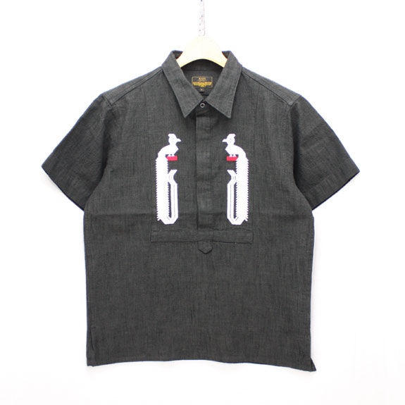 RATS EMBROIDERY SHIRT TYPE-A:BLACK