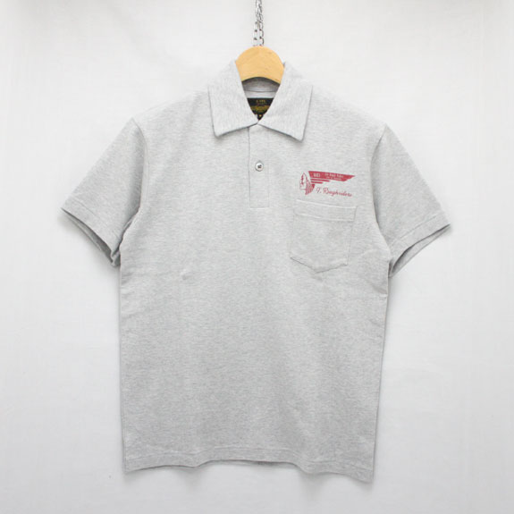 RATS TOP POLO SHIRT:TOP GRAY