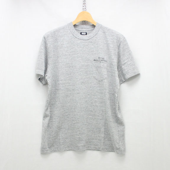 RATS OLD ENGLISH POCKET T-SHIRT:TOP GRAY