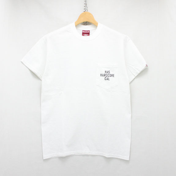 HIDE&SEEK HAS CAL Pocket S/S Tee:WHITE