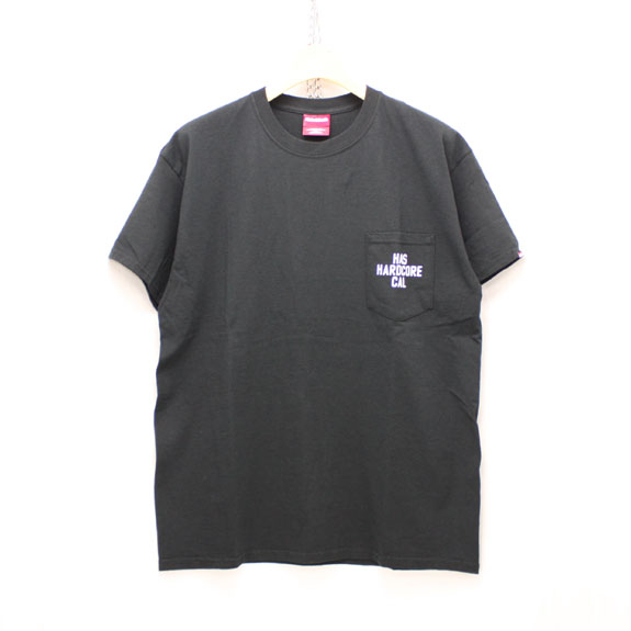HIDE&SEEK HAS CAL Pocket S/S Tee:BLACK
