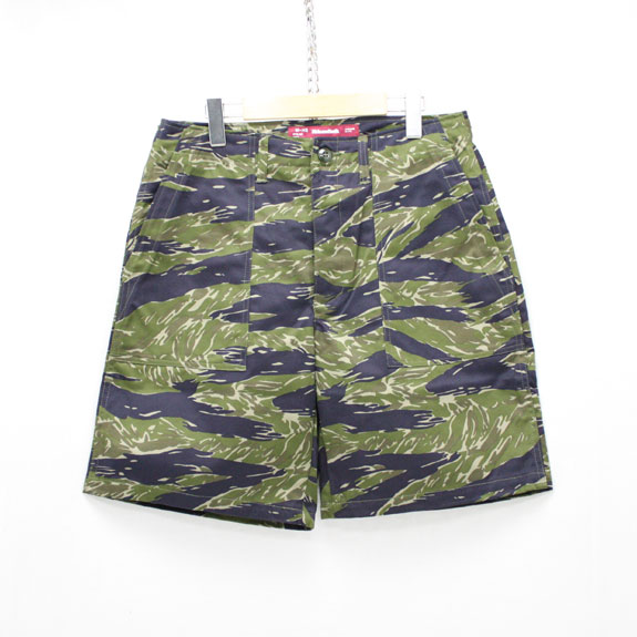 HIDE&SEEK Fatigue Short Pants (16ss):TIGER CAMO