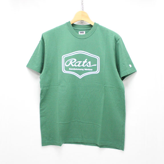 RATS SCRIPT SIGN T-SHIRT:GREEN