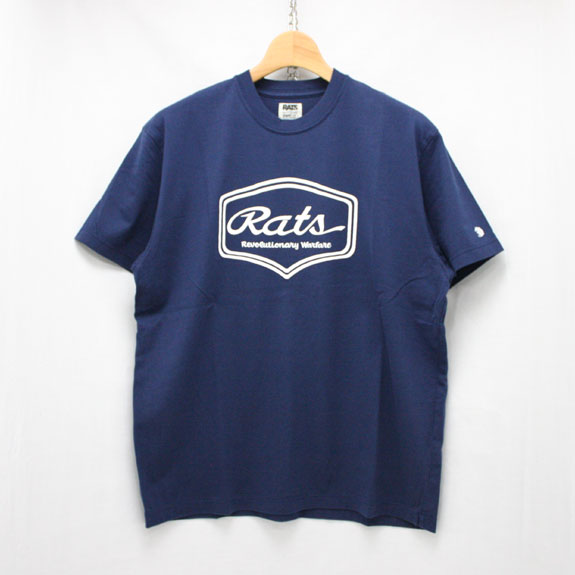 RATS SCRIPT SIGN T-SHIRT:NAVY