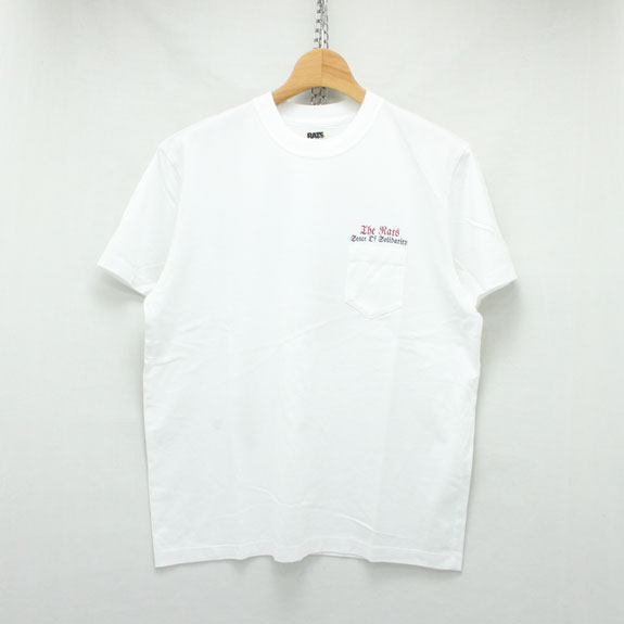 RATS EAGLE POCKET T-SHIRT:WHITE