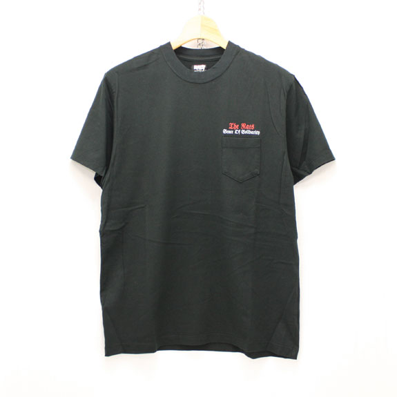 RATS EAGLE POCKET T-SHIRT:BLACK