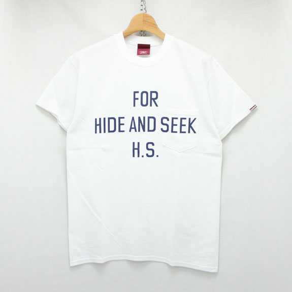 HIDE&SEEK For H.S. Pocket S/S Tee (16ss):WHITE