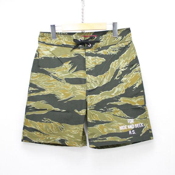 HIDE&SEEK Swim Shorts (Tiger Camo):TIGER CAMO