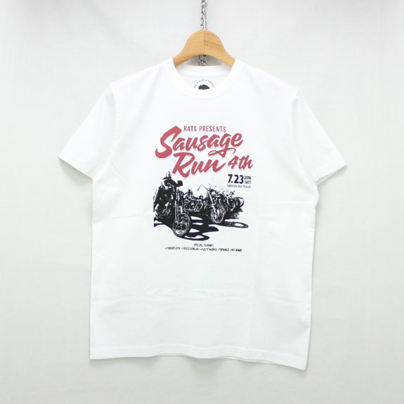 RATS SAUSAGE RUN T-SHIRT:WHITE