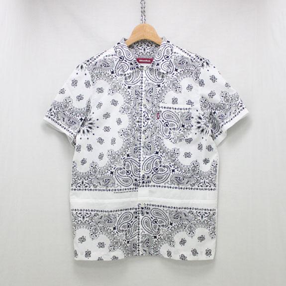 HIDE&SEEK Banndana S/S Shirt:WHITE