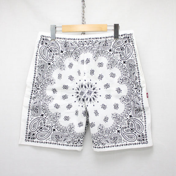HIDE&SEEK Banndana Shorts:WHITE