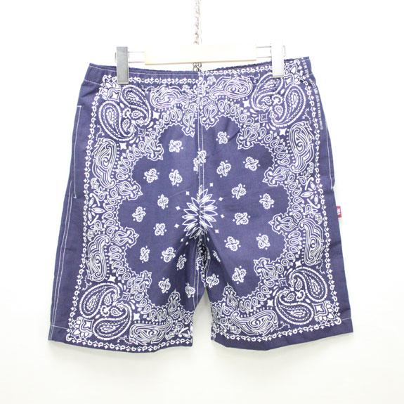 HIDE&SEEK Banndana Shorts:NAVY