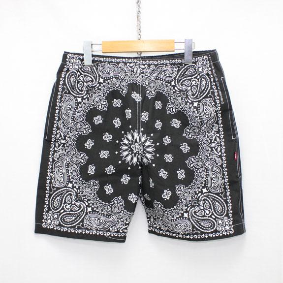 HIDE&SEEK Banndana Shorts:BLACK