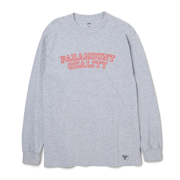 BEDWIN L/S C-NECK PRINT T LURIE:GRAY