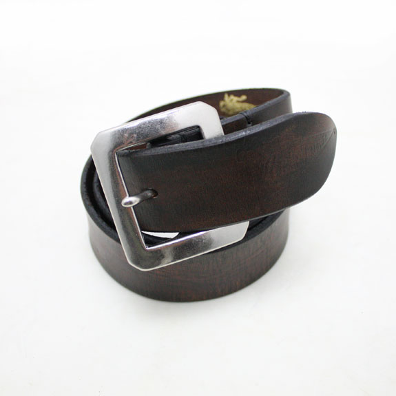 BELAFONTE RAGTIME LEATHER BELT:BLACK
