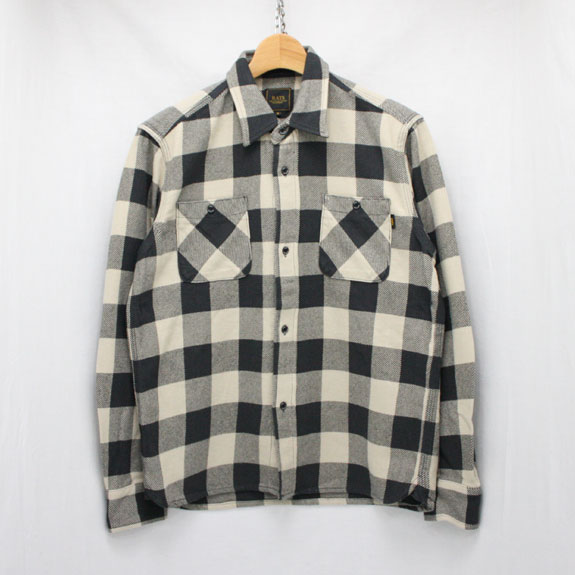 RATS BUFFALO CHECK TRIPLE STITCH SHIRT:WHITE×BLACK CHECK