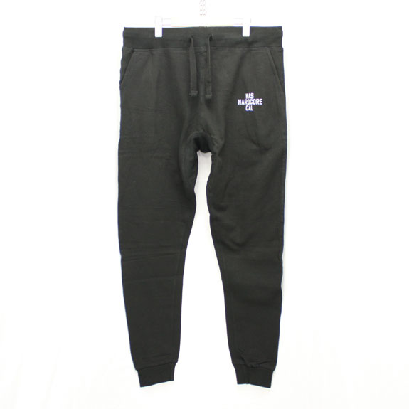 HIDE&SEEK HARD CORE CAL Sweat Pants:BLACK