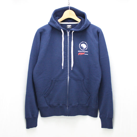 RATS ZIP UP SWEAT:NAVY