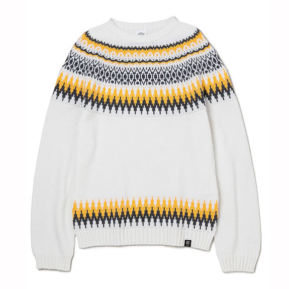 BEDWIN C-NECK NORDIC JAQUARD KNIT SWEATER