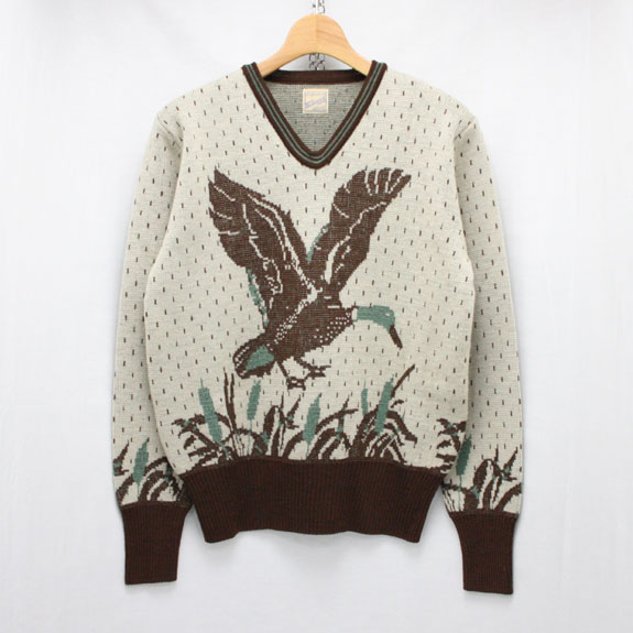 BELAFONTE RAGTIME WILD DUCK SWEATER:BROWN×GREEN