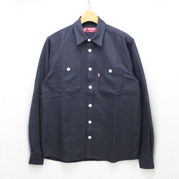 HIDE&SEEK Fatigue L/S Shirt (16aw):NAVY