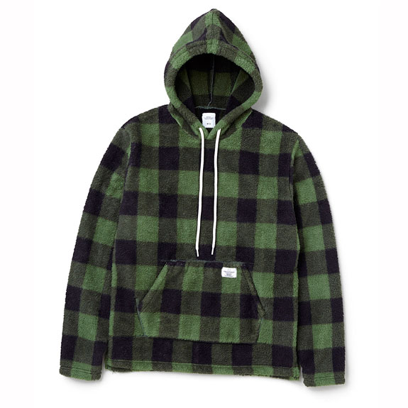 BEDWIN L/S CHECK BOA PULLOVER HOODED