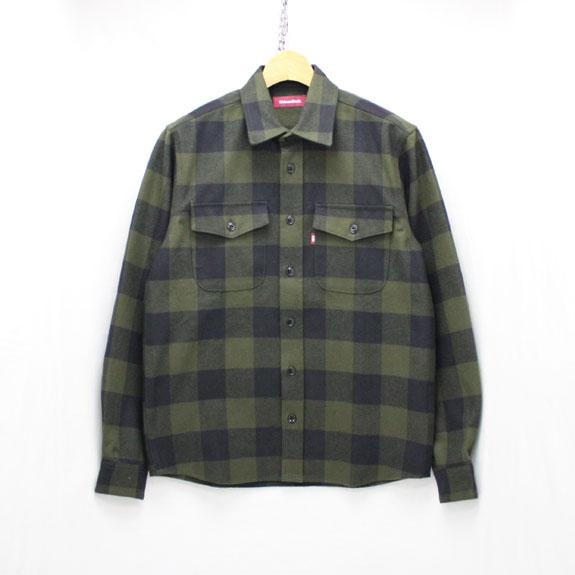 HIDE&SEEK Buffalo L/S Shirt (16aw):O D