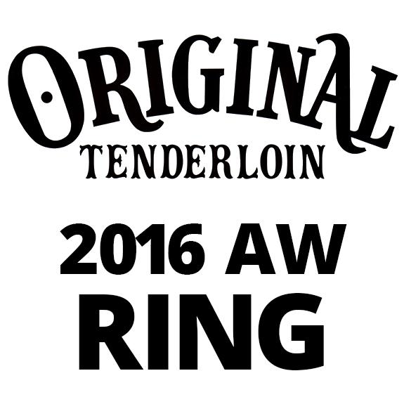 TENDERLOIN T-H.S RING:SILVER/STONE