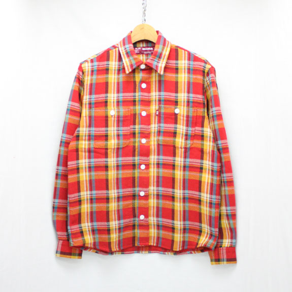 HIDE&SEEK Check L/S Shirts (17ss):RED