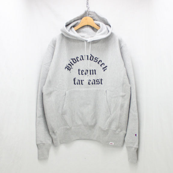 HIDE&SEEK Team Far East Sweat Parka:H-GRAY