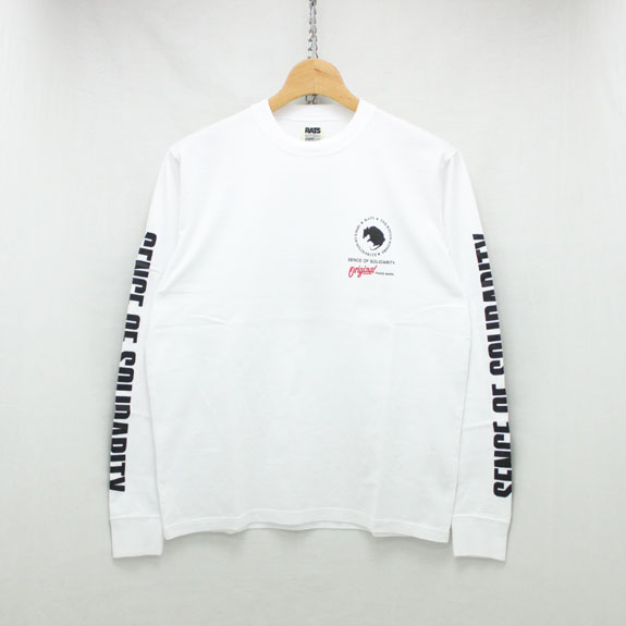 RATS PRINT LONG SLEEVE:WHITE