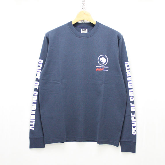 RATS PRINT LONG SLEEVE:NAVY