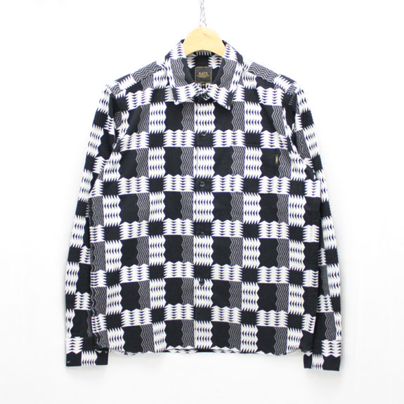 RATS NATIVE FLANNEL SHIRT:BLACK CHECK