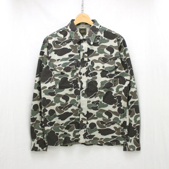 RATS CAMOUFLAGE FLANNEL SHIRT:CAMOUFLAGE