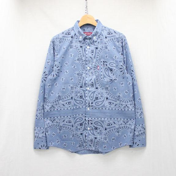 HIDE&SEEK Bandanna B.D L/S Shirts:CHAMBRAY