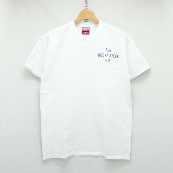 HIDE&SEEK H&S×OSC Pocket S/S Tee:WHITE