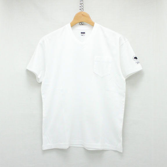 RATS V-NECK T-SHIRT:WHITE
