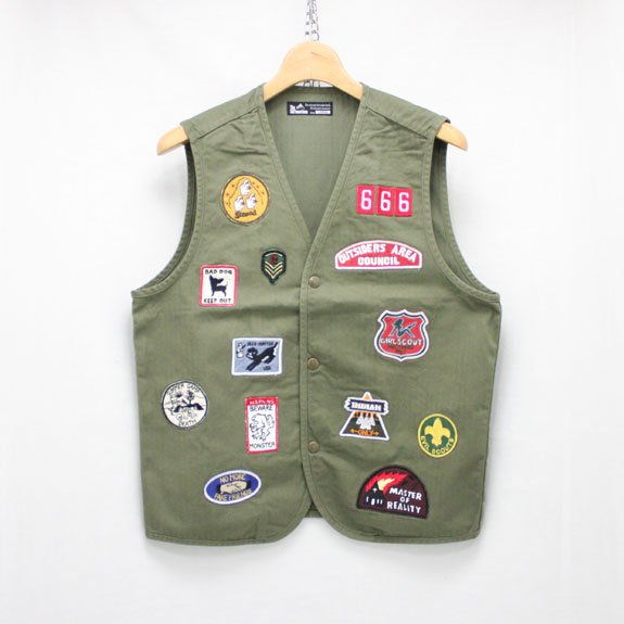 SOFT MACHINE SCOUT VEST:OLIVE