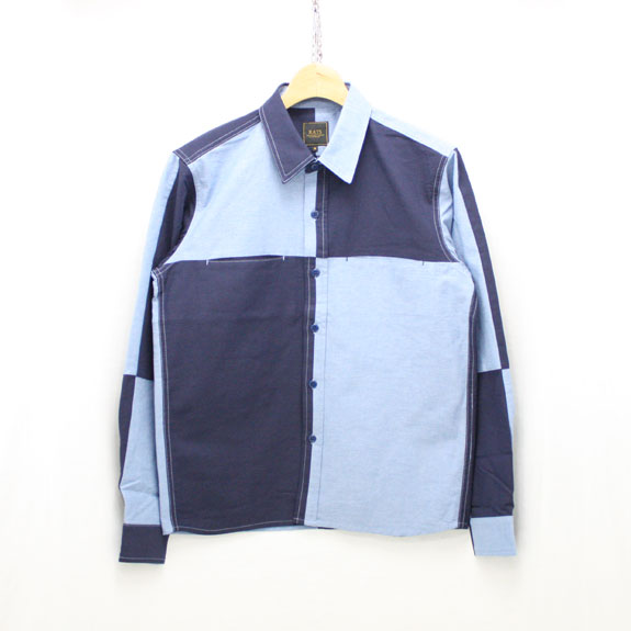 RATS CRAZY PATTERN OXFORD SHIRT:INDIGO