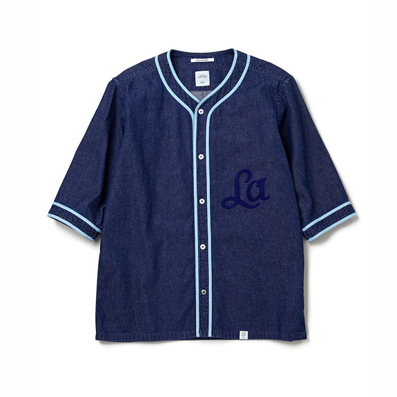 BEDWIN 7/S BASEBALL DENIM SHIRT