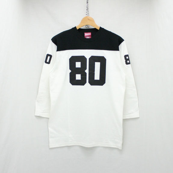 HIDE&SEEK Football Shirts (17ss):WHITE×BLACK