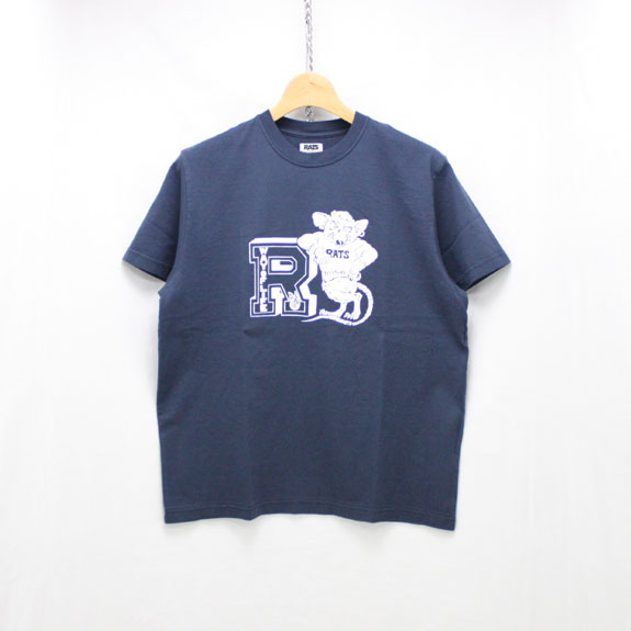 RATS COLLEGE T-SHIRT:NAVY
