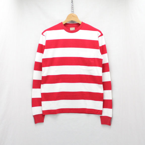 BELAFONTE RAGTIME BORDER STENCIL L/S:RED×OFF WHITE