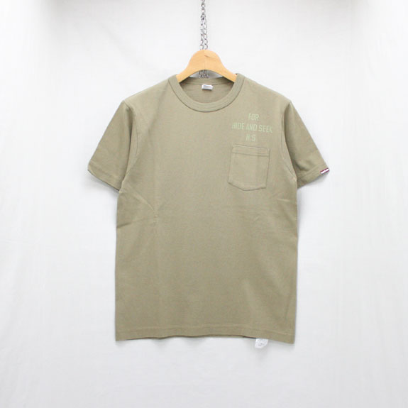 HIDE&SEEK For HS Pocket S/S Tee (Healthknit):SAND