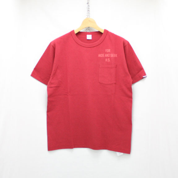HIDE&SEEK For HS Pocket S/S Tee (Healthknit):BURGUNDY