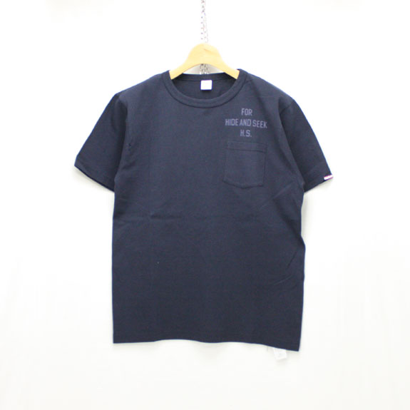 HIDE&SEEK For HS Pocket S/S Tee (Healthknit):NAVY